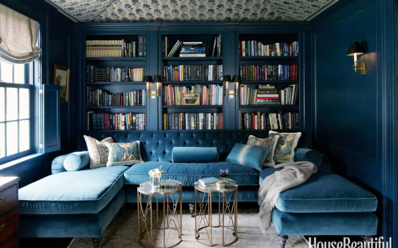 On the Shelf :: Blue Bookcases