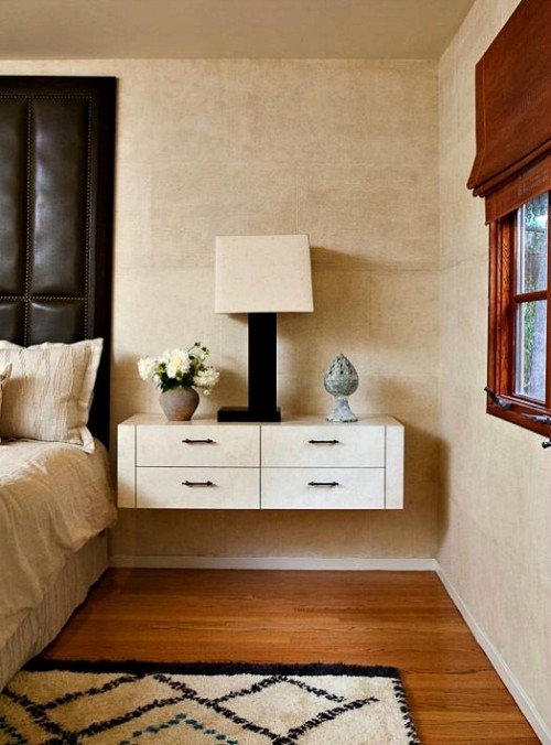 Mad about floating nightstands the ace of space blog for Bed with floating nightstands