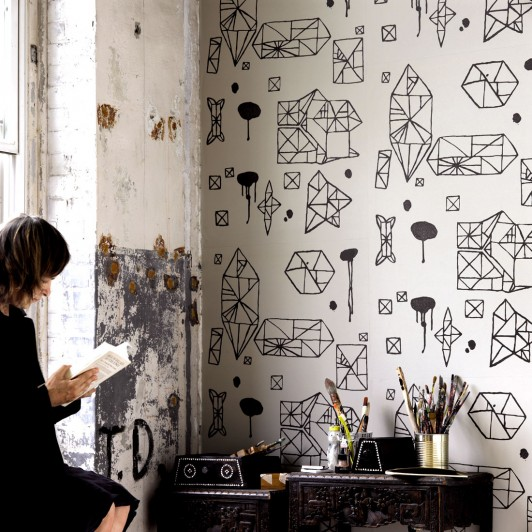 large scale modern wallpaper