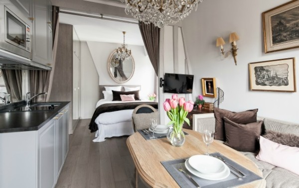 Cremant-de-Bourgogne-Paris-Studio-Dining-Area-and-Kitchen