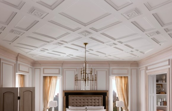 Ceilings are often overlooked, but they have the greatest design potential and adding moldings provides the greatest visual impact. #metrie #moldings #millwork #ceilingtreatments