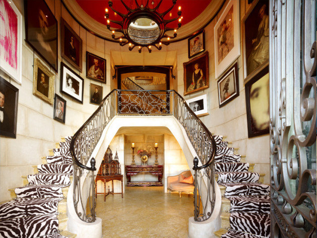 Ken Fulk:: A Glimpse Behind the Magic Curtain #dramatichallways #hallways #kenfulk #zebraprints