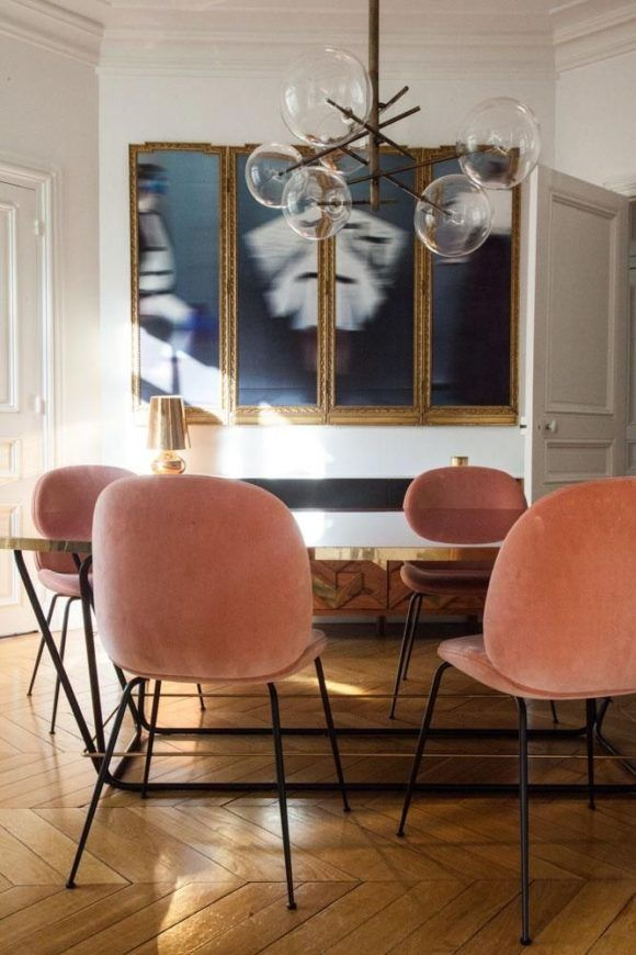 Paris maintains a rare balance between the comforts of home and  world class service  The Beetle Chairs in contrasting shades of pink   emerald green. The Beetle Chair   Icons of Style   The Ace Of Space Blog