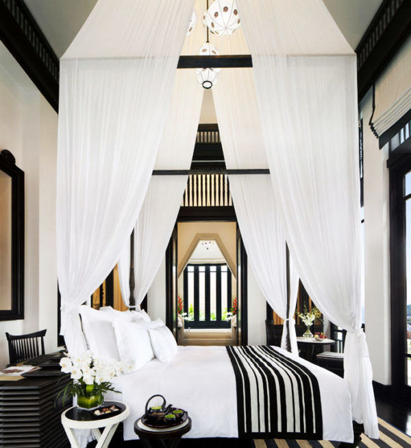 The Intercontinental Danang Sun Penisula Resort/ Designer Bill Bensley #luxuryhotels #canopybeds #vietnamesedesign
